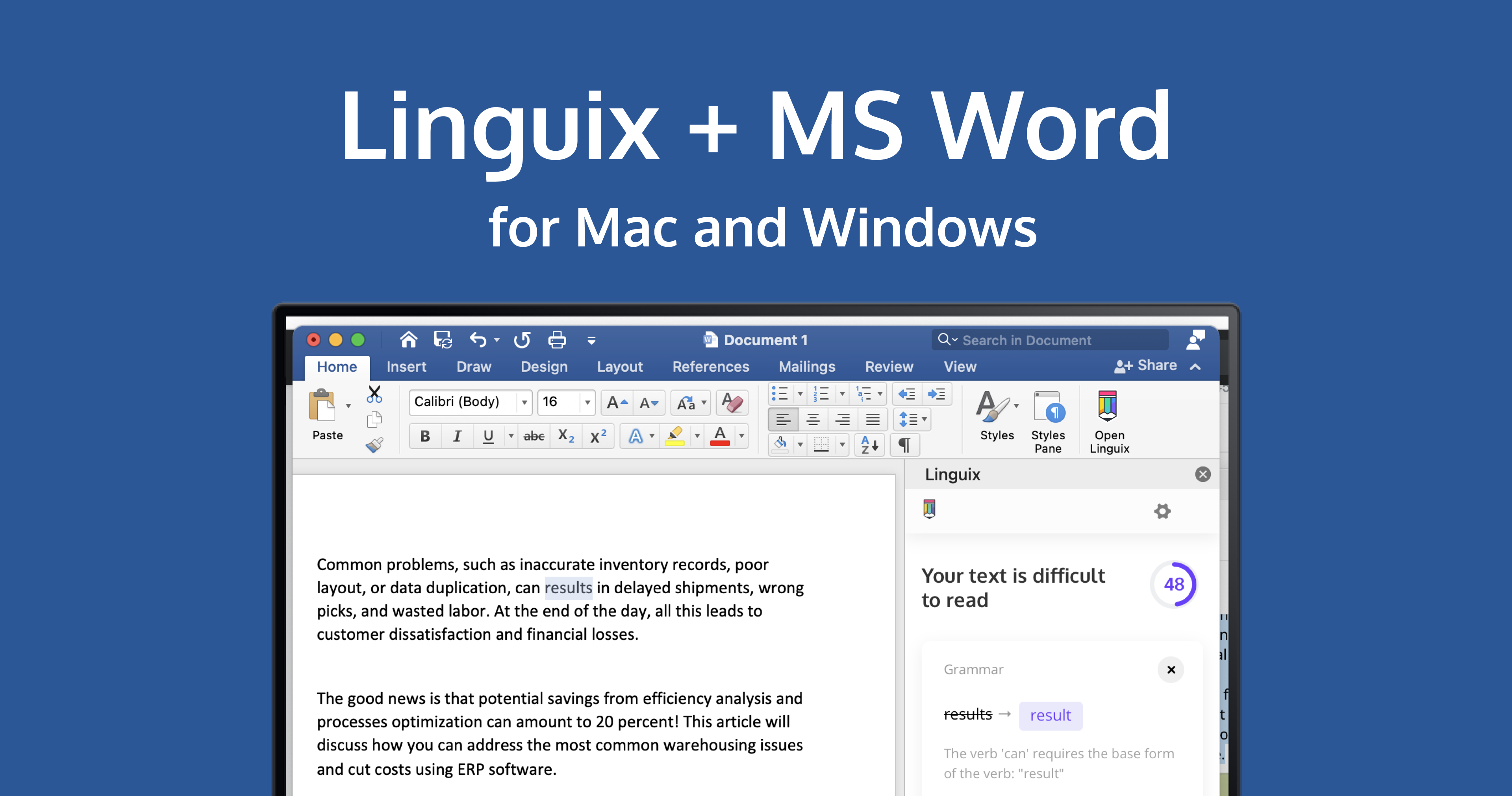 Linguix Writing Assistant Is Now Available for MS Word