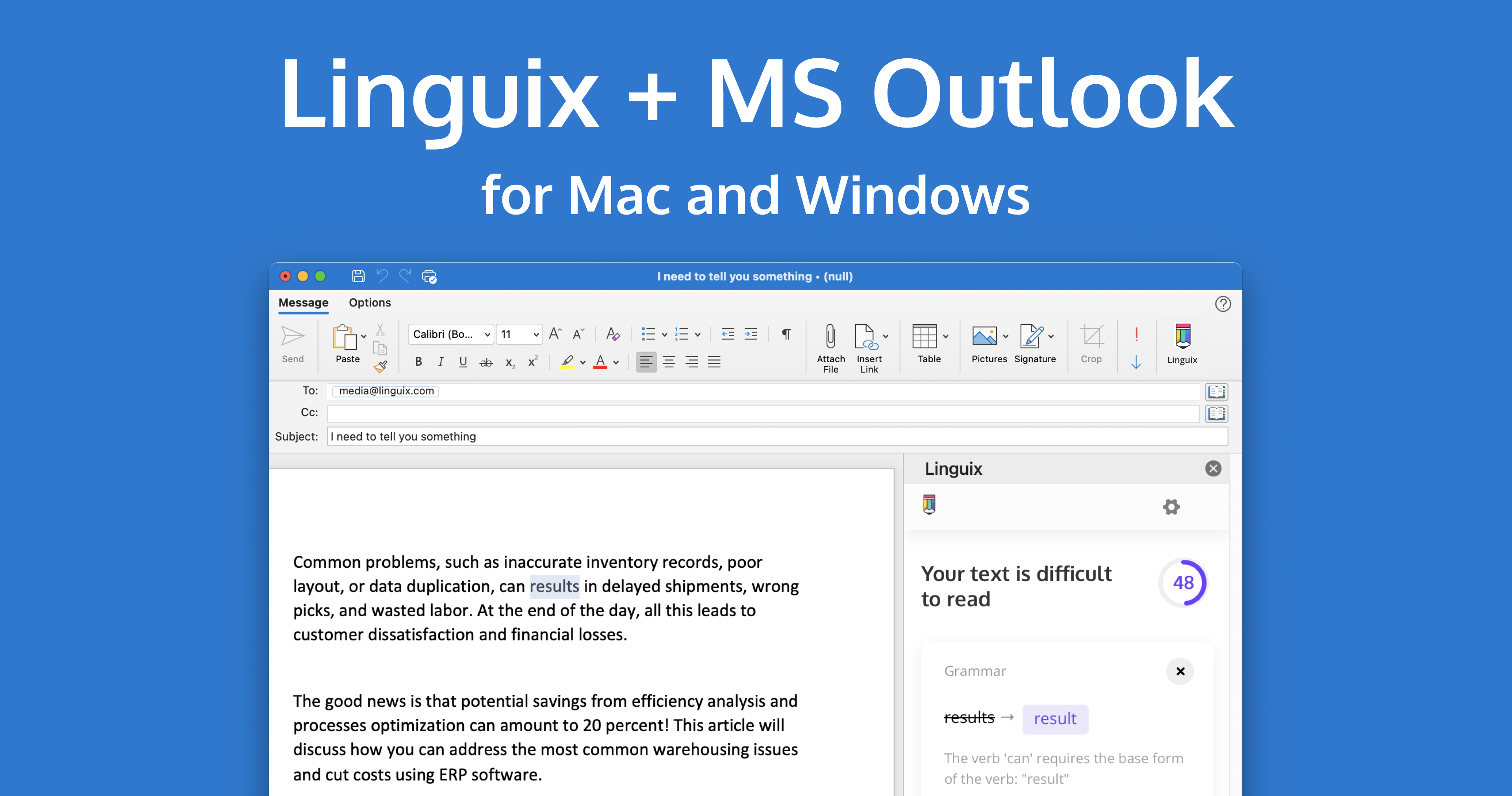 Linguix For Outlook Has Arrived